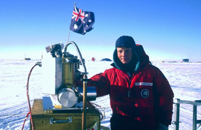 Michael Burton with the IRPS at the South Pole